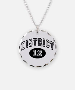 Hunger Games District 12 Necklace Circle Charm