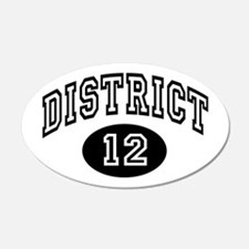 Hunger Games District 12 22x14 Oval Wall Peel