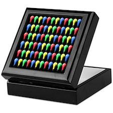 Colorful Bulbs on Black.Keepsake Box