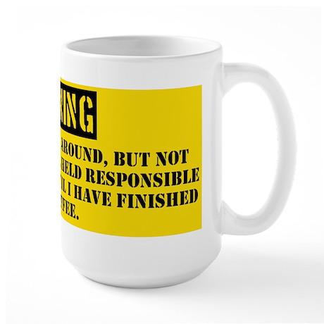 Coffee Wake Up Warning Large Mug