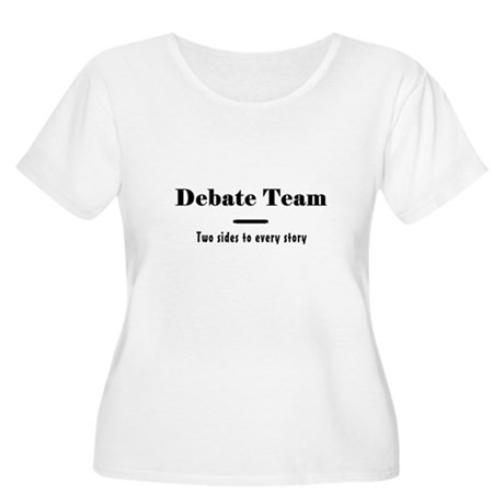 Debate Team Women's Plus Size Scoop Neck T-Shirt