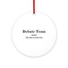 Debate Team Ornament (Round)