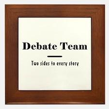 Debate Team Framed Tile