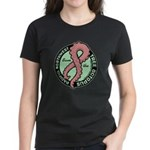 Tentacle Ribbon Logo Women's Dark T-Shirt