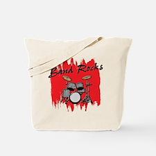 Band Rocks w/Drum Set Tote Bag
