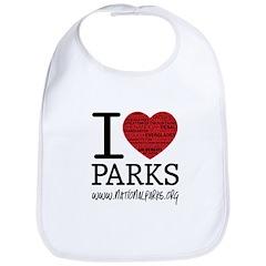 I Heart Parks Bib