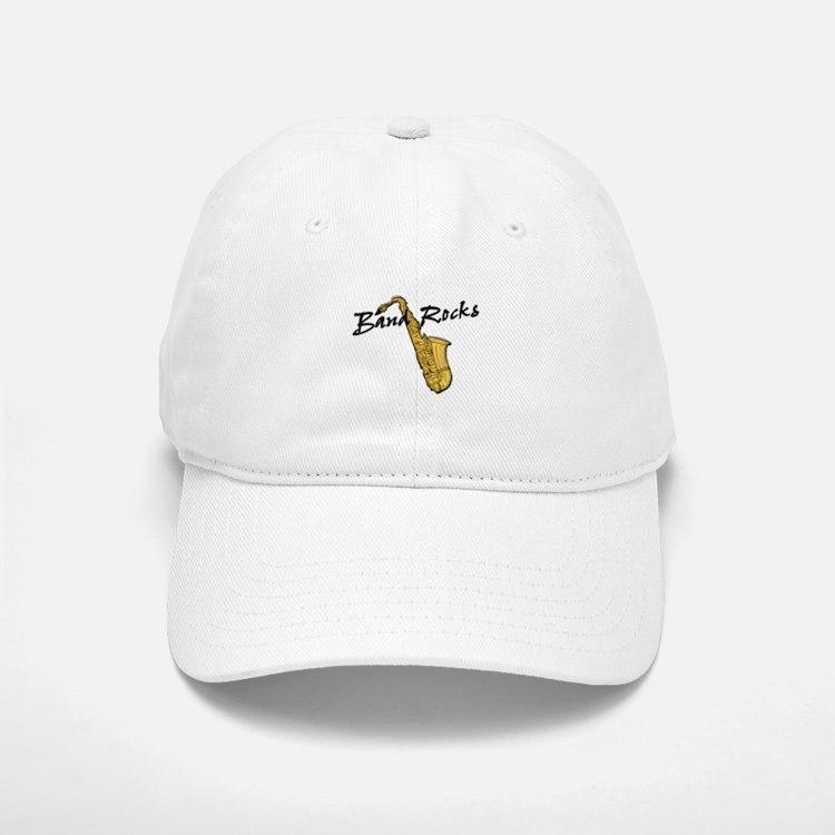Band Rocks w/Sax Baseball Baseball Cap