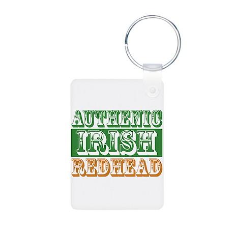 Authentic Irish Redhead Aluminum Photo Keychain