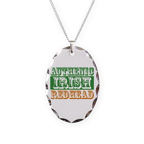 Authentic Irish Redhead Necklace Oval Charm