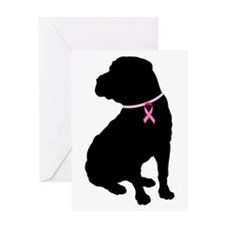 Shar Pei Breast Cancer Support Greeting Card