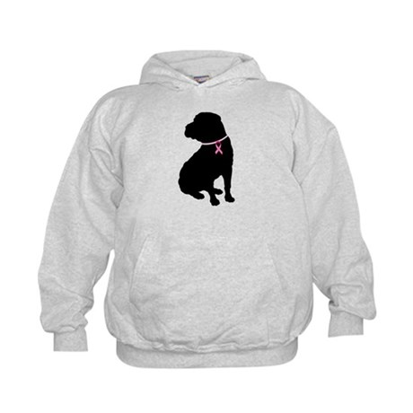 Shar Pei Breast Cancer Support Kids Hoodie