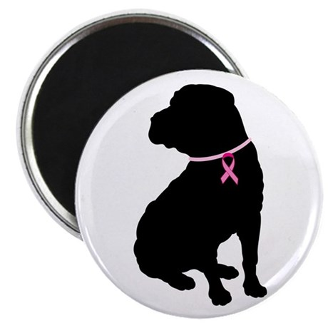"Shar Pei Breast Cancer Support 2.25"" Magnet (100 p"