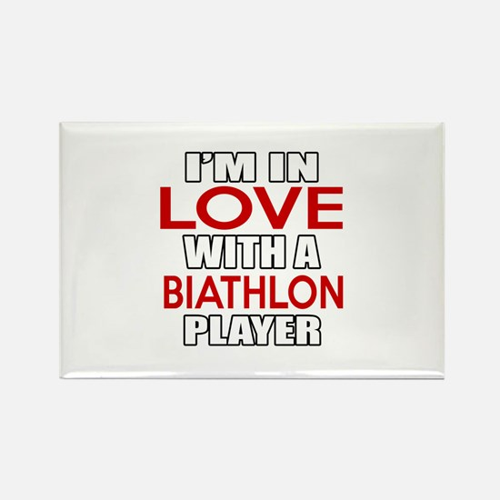I Am In Love With Biathlon Player Rectangle Magnet