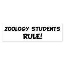 ZOOLOGY STUDENTS Rule! Bumper Bumper Sticker