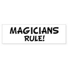 MAGICIANS Rule! Bumper Car Sticker