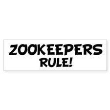 ZOOKEEPERS Rule! Bumper Car Sticker