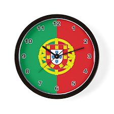 Portugese Flag Wall Clock