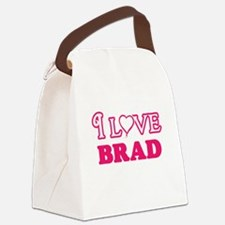 I Love Brad Canvas Lunch Bag