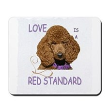 Love is a Red Standard Mousepad