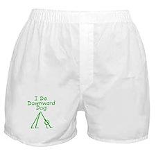 Green Downward Dog Boxer Shorts