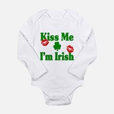 Kiss Me I'm Irish Long Sleeve Infant Bodysuit