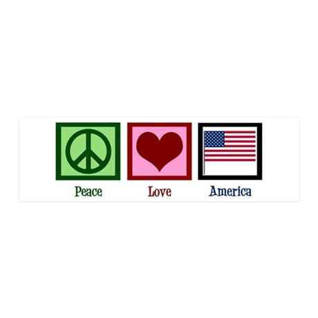 Peace Love America 20x6 Wall Decal
