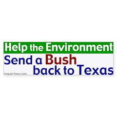 Bush Back to Texas Bumper Bumper Sticker