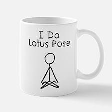 Black Lotus Pose Mug