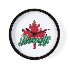 Banff Maple Leaf Wall Clock