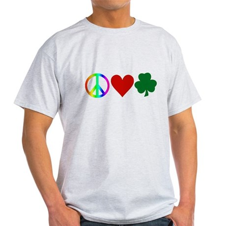 Peace Love Shamrock Light T-Shirt