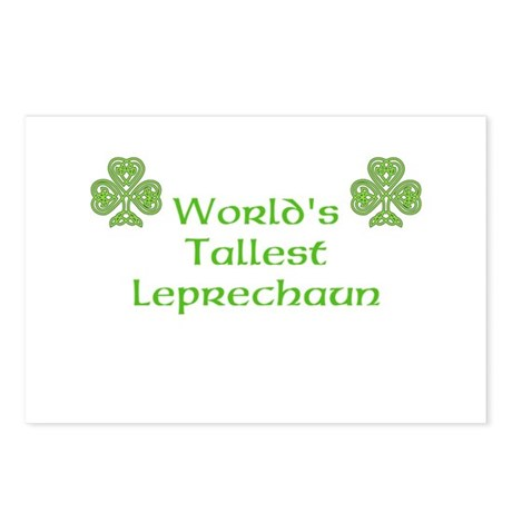 World's Tallest Leprechaun Postcards (Package of 8