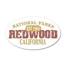 Redwood National Park CA 22x14 Oval Wall Peel
