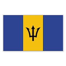 Barbados Rectangle Decal