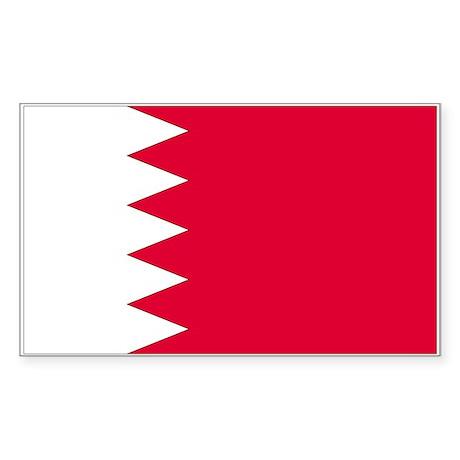 Bahrain Rectangle Sticker
