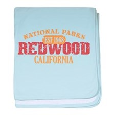 Redwood National Park CA baby blanket
