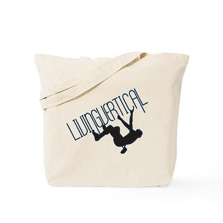 Living Vertical Tote Bag