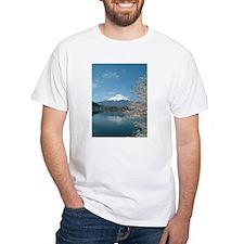 Mt. Fuji with sakura at lake Kawaguchi T-Shirt