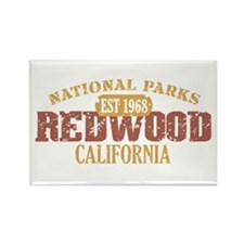 Redwood National Park CA Rectangle Magnet