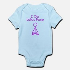Purple Lotus Pose Infant Bodysuit