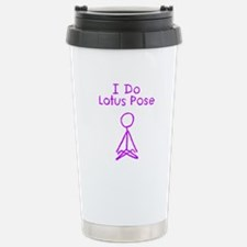 Purple Lotus Pose Stainless Steel Travel Mug