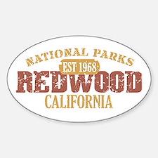 Redwood National Park CA Sticker (Oval)