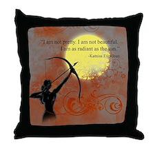 Radiance of Katniss Everdeen Throw Pillow