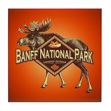 Banff Natl Park Moose Tile Coaster
