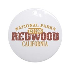 Redwood National Park CA Ornament (Round)