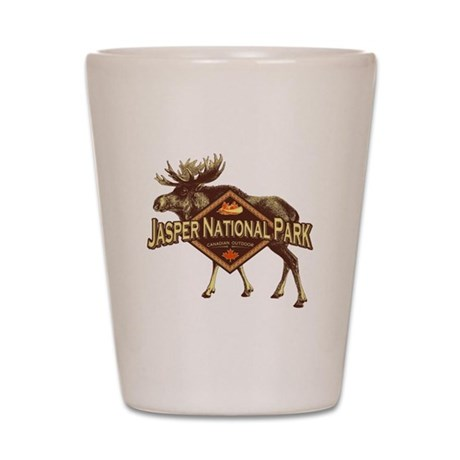 Jasper Natl Park Moose Shot Glass