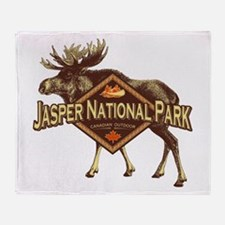 Jasper Natl Park Moose Throw Blanket