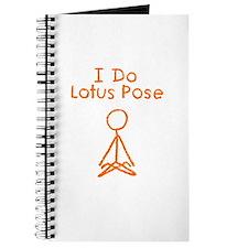Orange Lotus Pose Journal