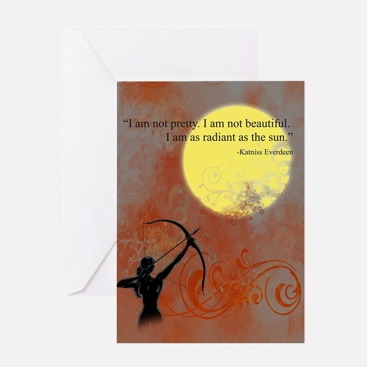 Radiance of Katniss Everdeen Greeting Card