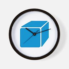 Blue cube Wall Clock