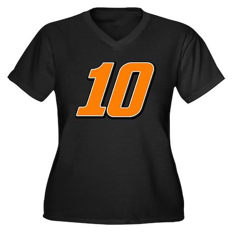 DP10 Women's Plus Size V-Neck Dark T-Shirt